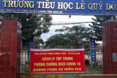 Trường TH Lê Quý Đôn làm khu cách ly tập trung đón công dân về địa phương thực hiện cách ly tập trung